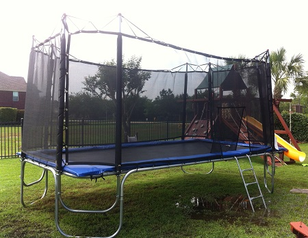 10X17 Texas Star Trampoline W/Texas Cage Enclosure