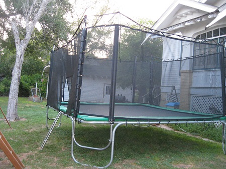 15x17 Texas Extreme Trampoline W/Texas Cage Encl.